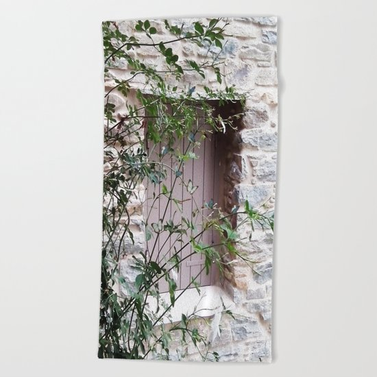 Window in Tinos Beach Towel