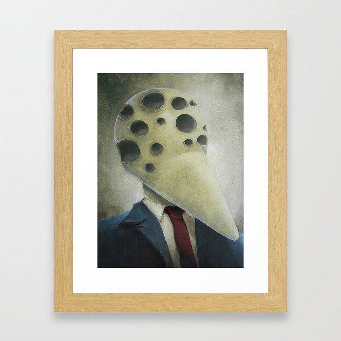 Has Many Eyes But Knows No Truth Framed Art Print