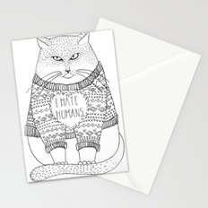 I hate humans. Stationery Cards