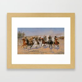 A Dash for the Timber - Frederic Remington Framed Art Print