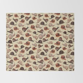 A Slew Of Snails Throw Blanket