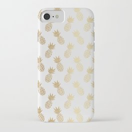 Gold Pineapple Pattern iPhone Case
