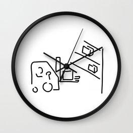 forklift driver storekeeper Wall Clock