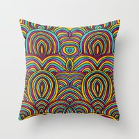 moroccan Throw Pillows featuring Moroccan Style by Pom Graphic Design