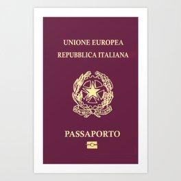 Italian Passport Art Print