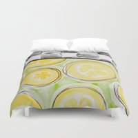kitchen Duvet Covers featuring Southern Kitchen by HollyJonesEcu