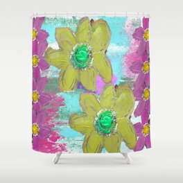 FLORAL MASHUP Shower Curtain