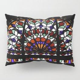 Colorful Rainbow Stain Glass Persian Window Art Pillow Sham
