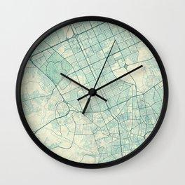 Riyadh Map Blue Vintage Wall Clock