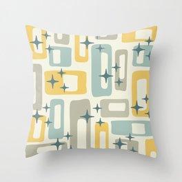 Mid Century Modern Geometric Abstract 132 Throw Pillow
