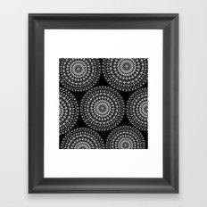 Geometries in white. Framed Art Print