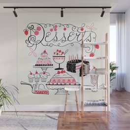 Midcentury Recipes Make Sweet And Lovely Vintage Desserts Wall Mural