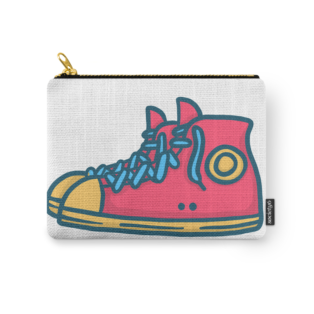 Chuck Taylors Inspired Vintage Pop Shoes Carry-All Pouch by amaki_xxi_co