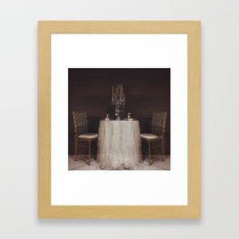 The Romance of a Table for Two Framed Art Print