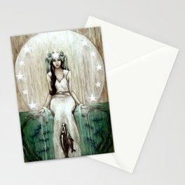Swim Beyond // Mermaid Whale Moon Stars Sharks Ocean Sea Underwater Goddess Mother Beach B Stationery Cards