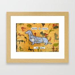 Dachshund - Powered by curiosity Framed Art Print