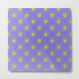 Color Explosion in Yellow and Blue Tiled Metal Print