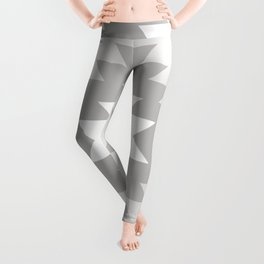Tangiers Kilim in Grey and Whtie Leggings