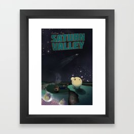 Earthbound - Greetings From Saturn Valley Framed Art Print
