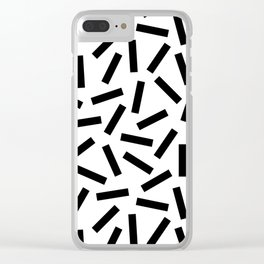 Modern Memphis Pattern Clear iPhone Case