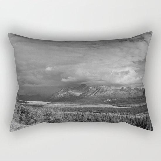 Matanuska Glacier Mono Rectangular Pillow