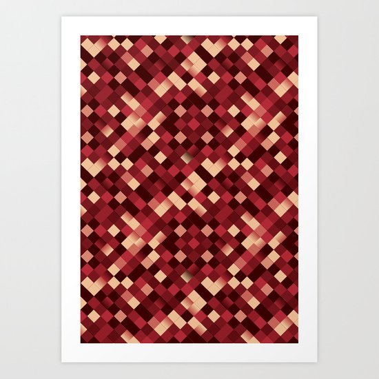 pixelated Art Print