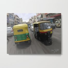 Rickshaws in Bangalore Metal Print