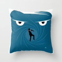 skyfall Throw Pillows featuring SKYFALL by Alain Bossuyt