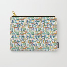 Retro Fish White Carry-All Pouch