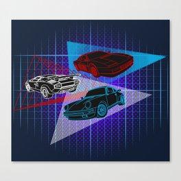 80s Supercars Canvas Print