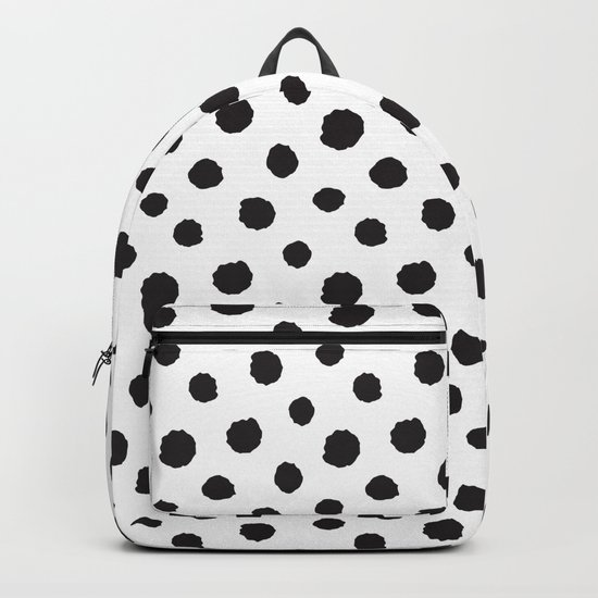 Minimal- black polka dots on white - Mix&Match with Simplicty of life Backpack