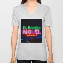 El Rancho Motel ... Unisex V-Neck