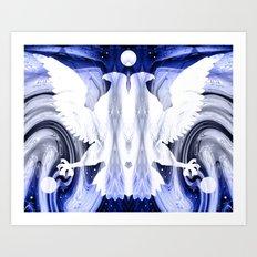 Space Eagle  Art Print