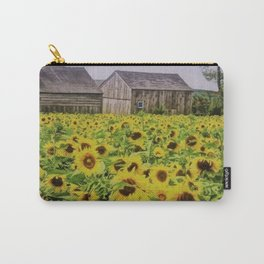 Summer Sunflower Fields, New England by Jeanpaul Ferro Carry-All Pouch