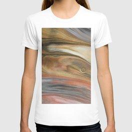 Fluid Nature - Metallic Flows - Abstract Acrylic Art T-shirt