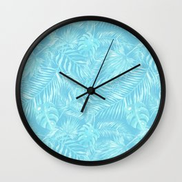 Watercolour Palm Leaf VII Wall Clock