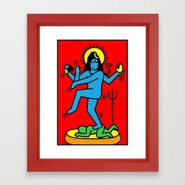 Shiva Keith Haring Tribute Framed Art Print