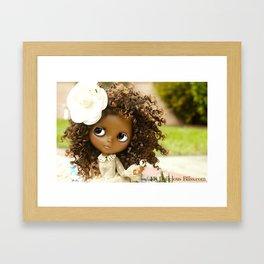 My Delicious Bliss Beautiful Brown Custom Blythe Art Dolls Framed Art Print