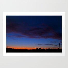 Iowa Sunrise Art Print