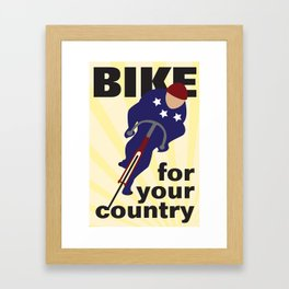 Bike For Your Country Framed Art Print