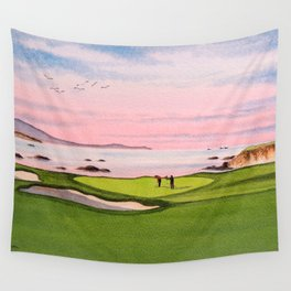 Pebble Beach Golf Course 8th Hole Wall Tapestry