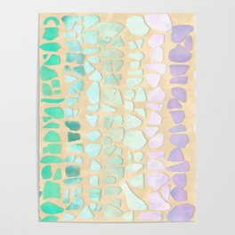 Sea Glass Poster