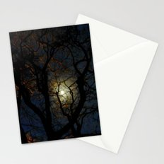 Moonlight Through Trees Stationery Cards
