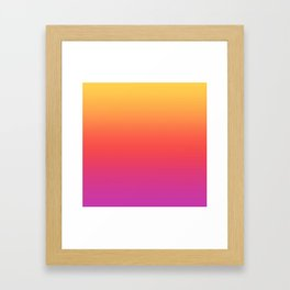 Ombre Colorful Summer Gradient Pattern Framed Art Print