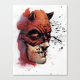 Unrelenting: Daredevil - Color by Allen Passalaqua Canvas Print