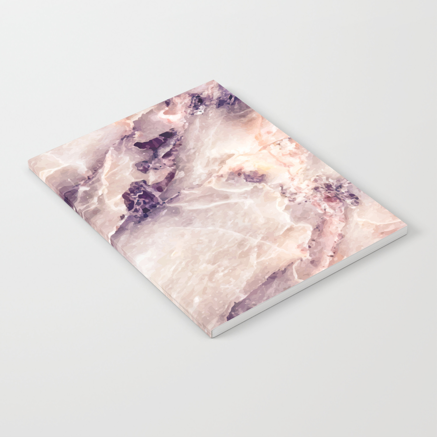 Pink Marble Texture Effect Notebook By Mmartabc Society6
