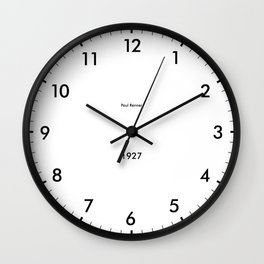 Type/Face 03 Wall Clock