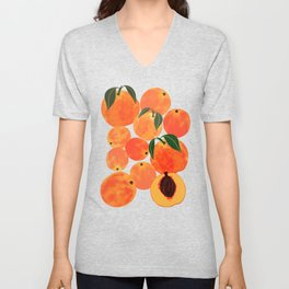 Peach Harvest Unisex V-Neck