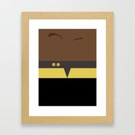 Tuvok - Star Trek Voyager VOY - Minimalist startrek Trektangle Trektangles Maquis - Delta Quadrant Framed Art Print