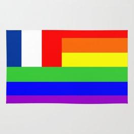 france gay people homosexual flag Rug